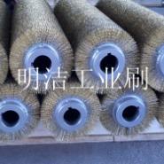 供应镀铜丝滚刷厂家定做镀铜丝滚刷