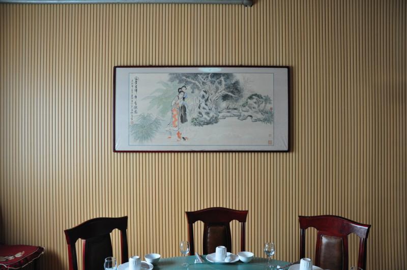 供应青岛PVC木塑室内吸音板/青岛木塑
