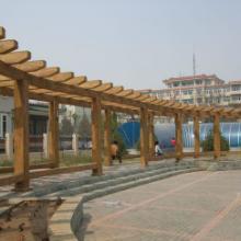 供应青岛塑木景观廊架