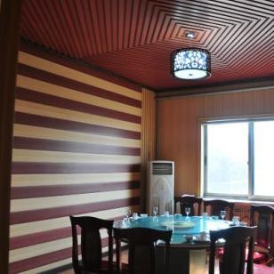 青岛木塑室内长城板/生态木长城板图片
