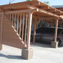 供应青岛城阳塑木廊架装饰材料联系电话
