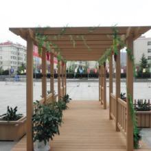供应青岛木塑廊架装饰材料
