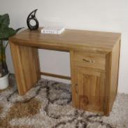100纯实木纯柞木梳妆台书桌图片
