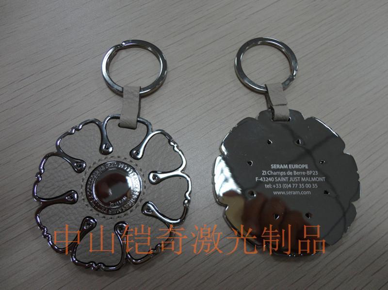 供应激光加工金属打标装饰钥匙扣