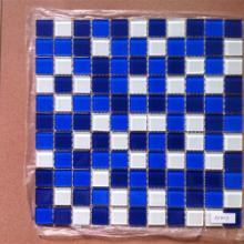 供应河北秦皇岛玻璃马赛克,圆柱拼花图案装饰效果。图片