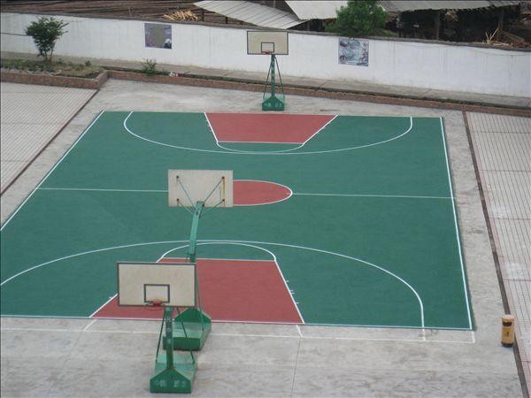 塑胶篮球场图片 塑胶篮球场样板图 塑胶篮球场 青岛海润达塑胶铺装工