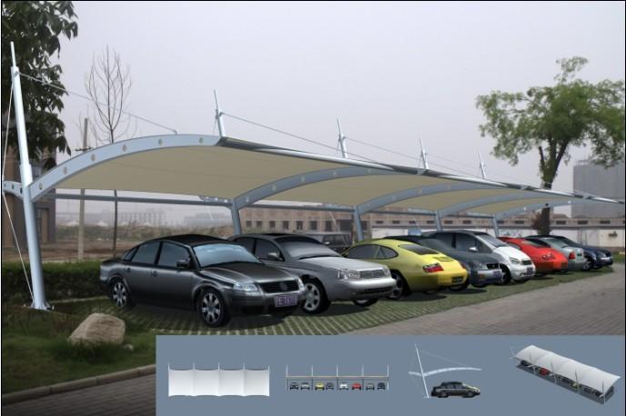 上海海俊雨篷遮阳棚膜结构车棚