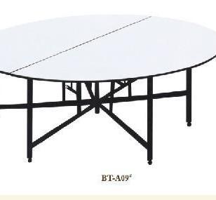 厂家直销酒店家具可折叠PVC餐桌图片