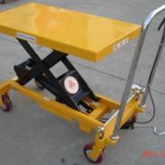 手动液压平台车/手动模具运输车图片图片