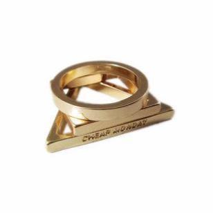 欧美原单朋克戒指潮人女18K金戒指图片