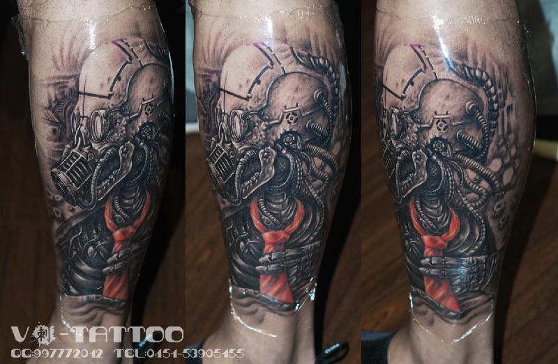 工作室生产欧美纹身