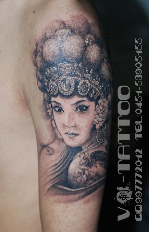 哈尔滨图片|哈尔滨样板图|哈尔滨纹身肖像写实作品