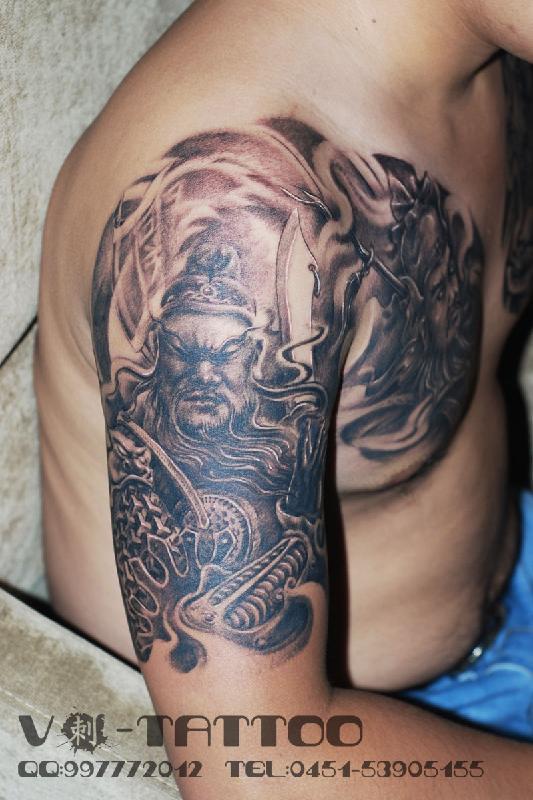 哈尔滨图片|哈尔滨样板图|哈尔滨纹身传统类三国半甲