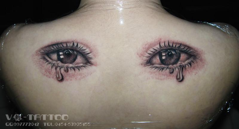 供应哈尔滨纹身小清新类女孩水滴眼泪