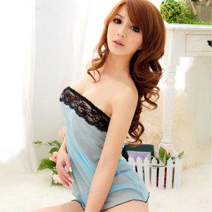 女式蕾丝睡衣网纱透明吊带睡裙图片 女式蕾丝睡衣网纱透明高清图片