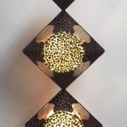 椰壳铁艺落地工艺灯图片