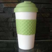 供应星巴克杯, 纯色创意礼品杯, 450ML双层环保塑料杯批发