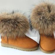 温州狐狸毛雪地靴50双订购欢迎抢购图片
