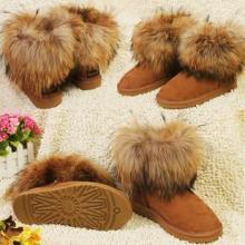 供应新款女式UGG雪地靴中筒大棉纯色,温州ugg雪地靴加工厂批发
