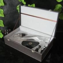 供应魔术器酒器皮盒精装版醒酒器礼品批发