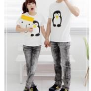 时尚韩版纯棉男女装装T恤个性情侣图片