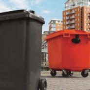 双龙各种型号带轮翻盖垃圾桶图片