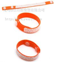 供应硅胶驱蚊手环 硅胶防蚊手带 硅胶手腕带
