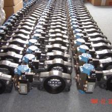 供应气动塑胶-UPVC对夹式蝶阀LPD12+2/5通单电控电磁换向阀批发