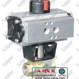 供应气动-电动-手动高压三通螺纹连接球阀LPK14