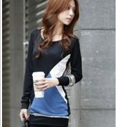 长袖T恤批发厂家直销时尚韩版蕾丝图片