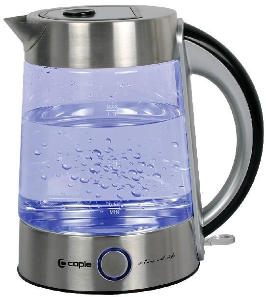供应玻璃电热水壶/不锈钢保温蓝色光灯/水壶容积1-2升底盘加热图片