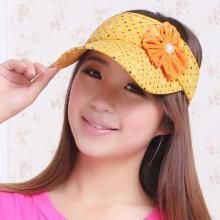 供应批发韩版潮流花朵珍珠女士款街头时尚空顶帽子K-041热销批发