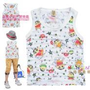 夏季韩版童装时尚可爱碎花背心t恤图片