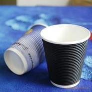 一次性纸杯定做隔热杯螺纹杯12安图片