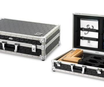 供应专业生产石材地板装饰板材样品箱展示箱工具箱化妆箱航空箱图片