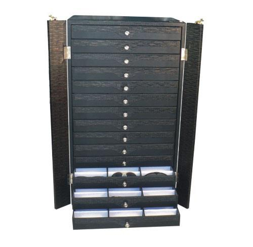 供应多层托盘手表首饰收纳柜首饰收纳展示箱拉杆箱运输箱参展箱