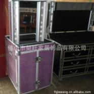 多功能折叠组合工作站 多功能产品展示箱 多功能多层带灯专业化妆台