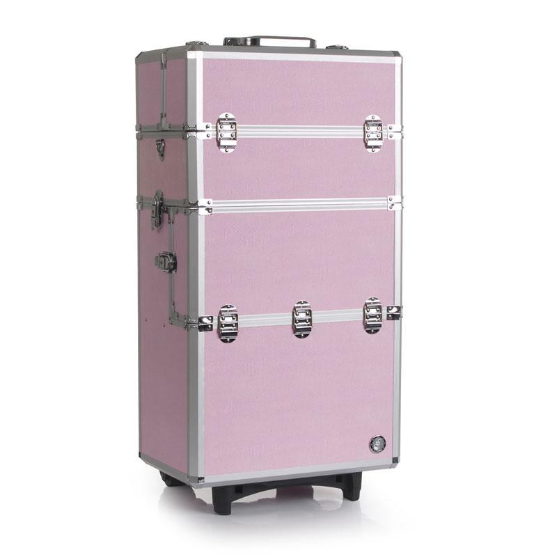 多层大容量专业化妆箱 拉杆化妆箱 LED化妆台梳妆台 展示柜化妆柜
