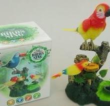 电动声控鸟 仿真声音电动动物 造型逼真 仿真声控鹦鹉 玩具批发图片