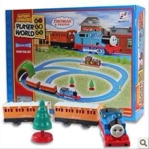 托马斯电动轨道火车套装图片