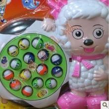 过家家玩具 喜羊羊电动钓鱼 益智玩具 钓鱼玩具 8694