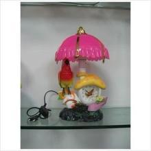 仿真玩具鸟+台灯+时钟 HY011511 蘑菇声控鸟台灯钟