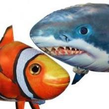 遥控空中飞鱼会飞的鲨鱼气球尼莫新品遥控太空飞鱼批发