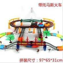 超大型多层声光轨道玩具火车玩具轨道车组电动儿童玩具小火车