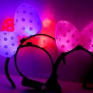 发光蝴蝶结发夹闪光玩具米奇结图片
