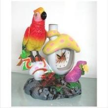 电动仿真玩具鸟/鹦鹉+时钟 HY011503 蘑菇声控鸟钟