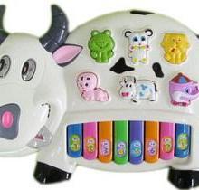 大尺寸奶牛音乐琴幼儿音乐启蒙早教音乐玩具电子琴儿童玩具益智批发