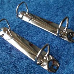 2孔O型夹铁夹子金属文具夹图片