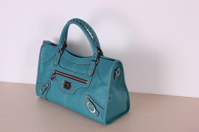 蓝色蝴蝶鱼手提式包包图片