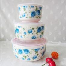 供应日式和风瓷碗-带盖樱之歌陶瓷保鲜